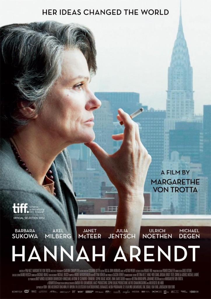 """Affiche du film """"Hannah Arendt"""", réalisé par Margarethe Von Trotta (2013)"""