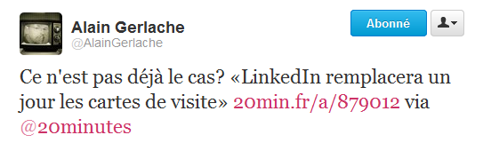 LinkedIn selon Alain Gerlache