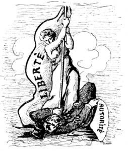 """""""Notre ennemi, c'est notre maître"""" - Illustration du livre Le Principe Anarchiste de Pierre Kropotkine (1913)"""