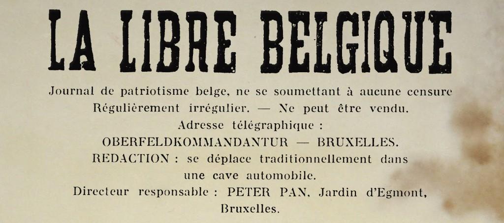 La Libre Belgique clandestine (Peter Pan), 1942.