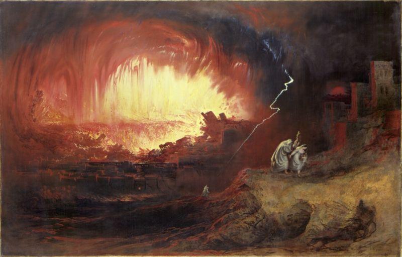 John Martin - La Destruction de Sodome et Gomorrhe (1852)