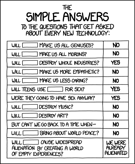 Source : https://xkcd.com/1289/