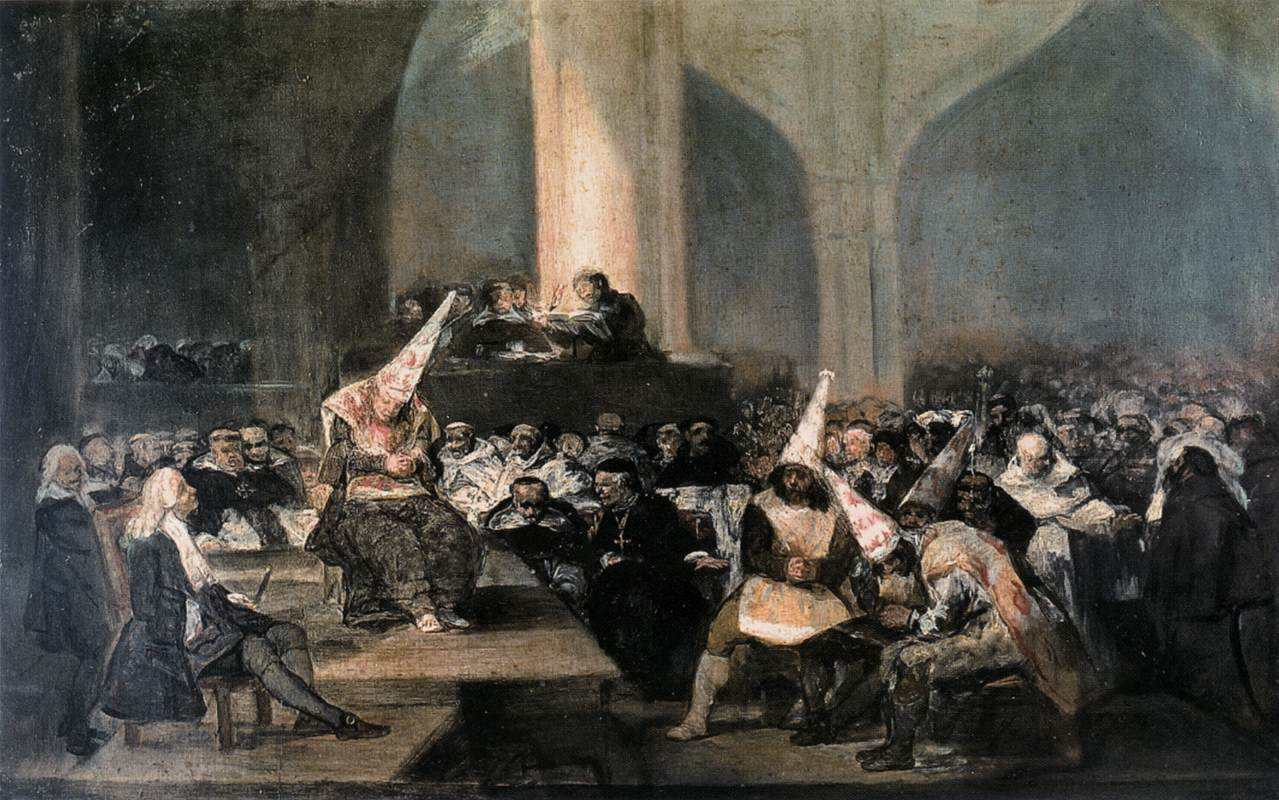Francisco de Goya - The Inquisition Tribunal (1812 - 1819)
