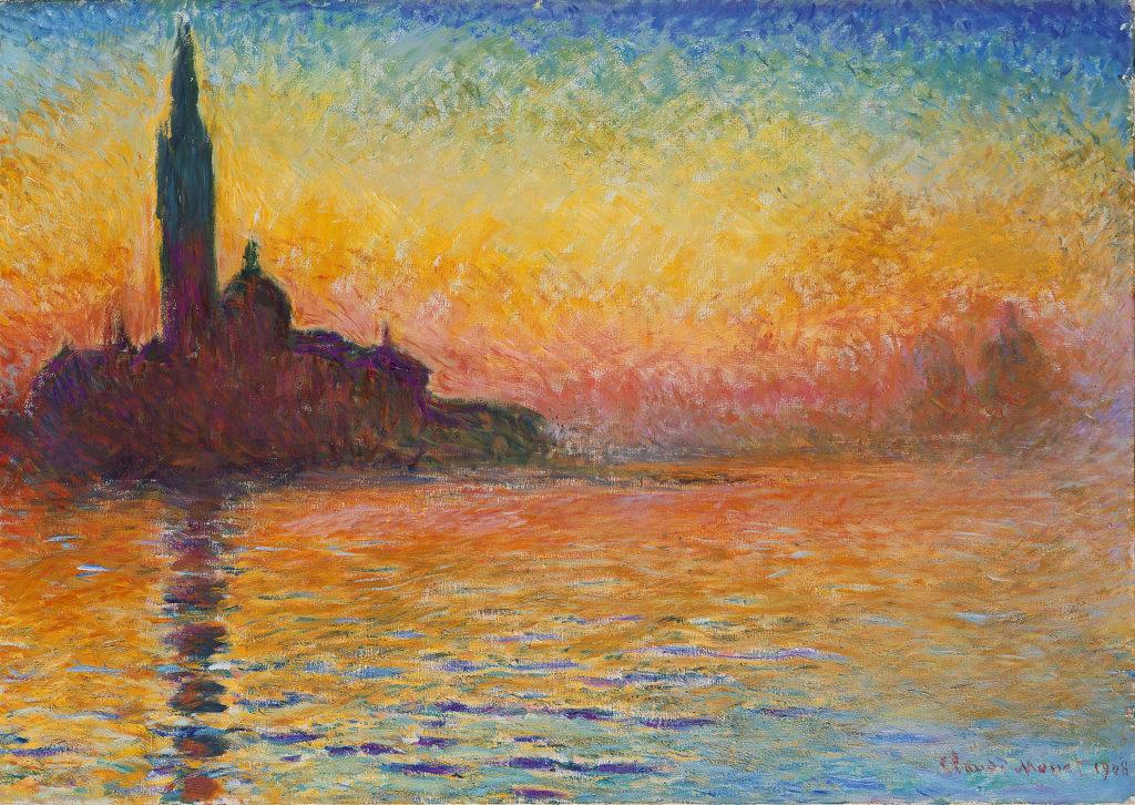 Claude Monet - Saint-Georges majeur au crépuscule (1908)