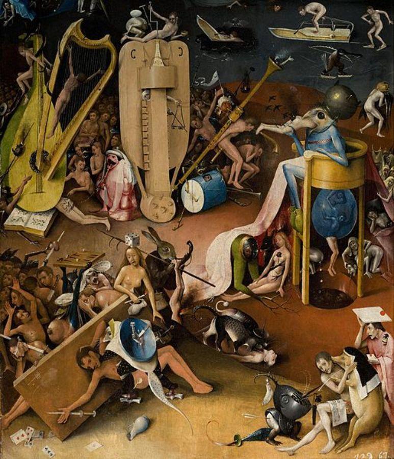 Jérome Bosch - Enfer - volet de droite du triptyque du Jardin des Délices (1494 - 1505).