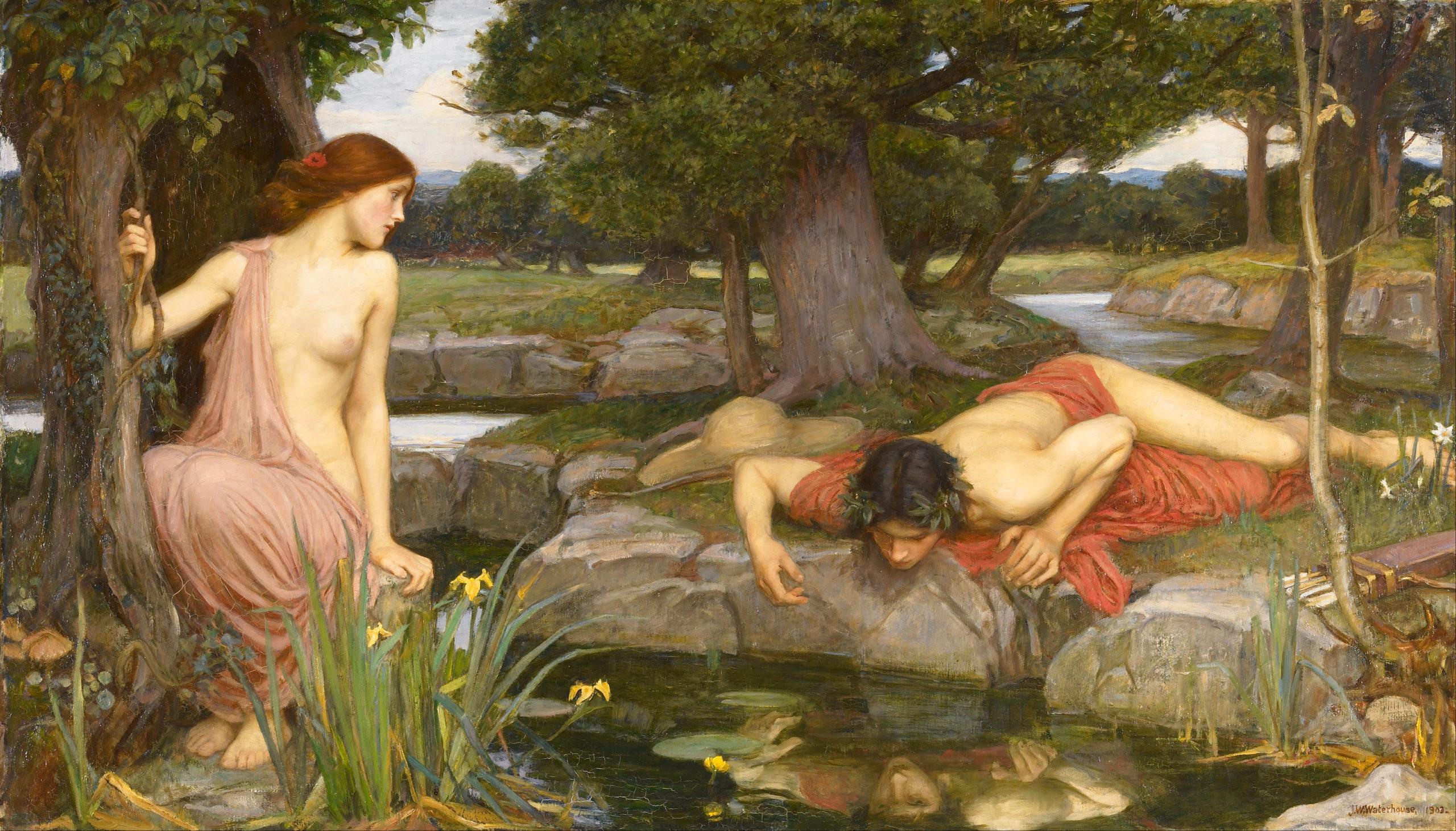 John William Waterhouse - Echo et Narcisse (1903)